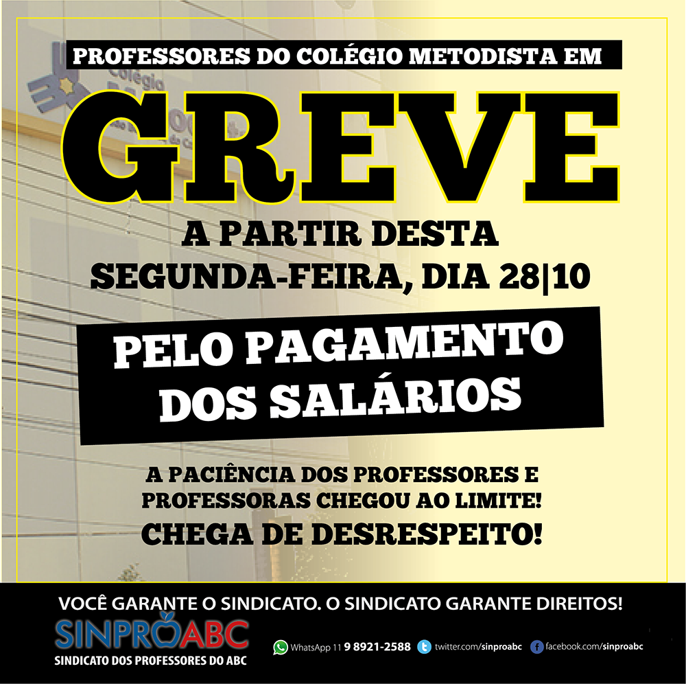 GREVE METODISTA OUT